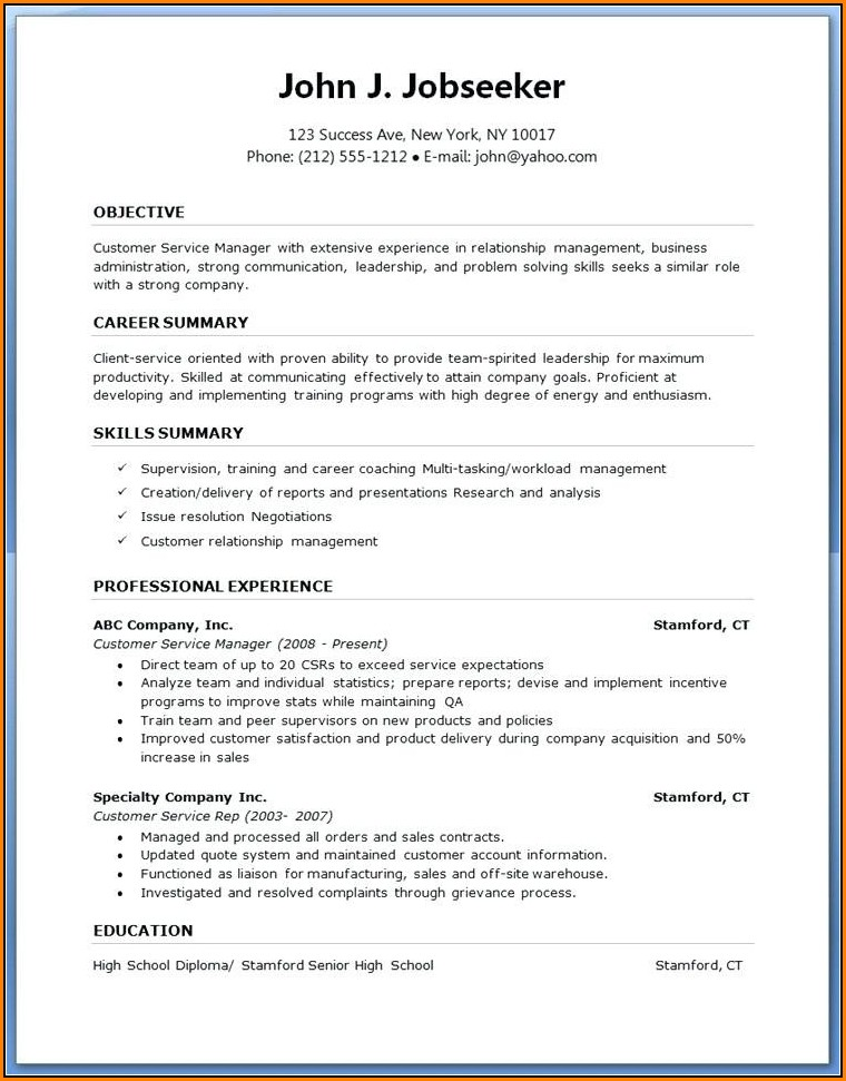 Downloadable Microsoft Word Free Resume Templates