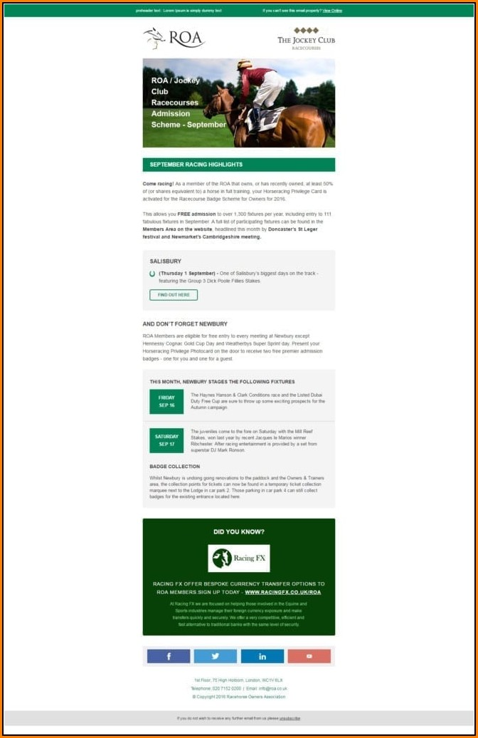 Employee Email Newsletter Templates