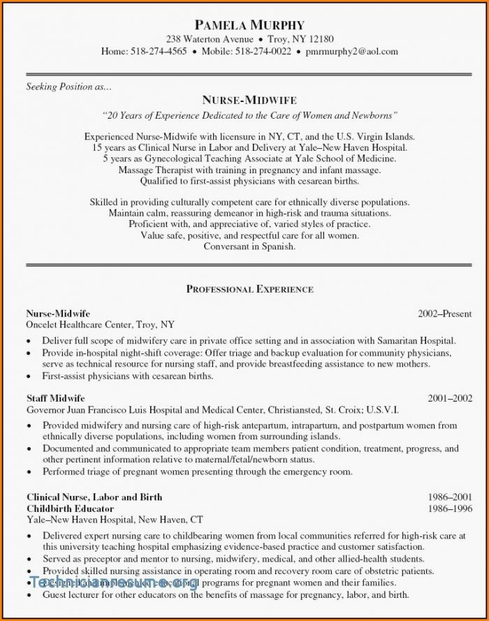 Examples Of Er Rn Resumes