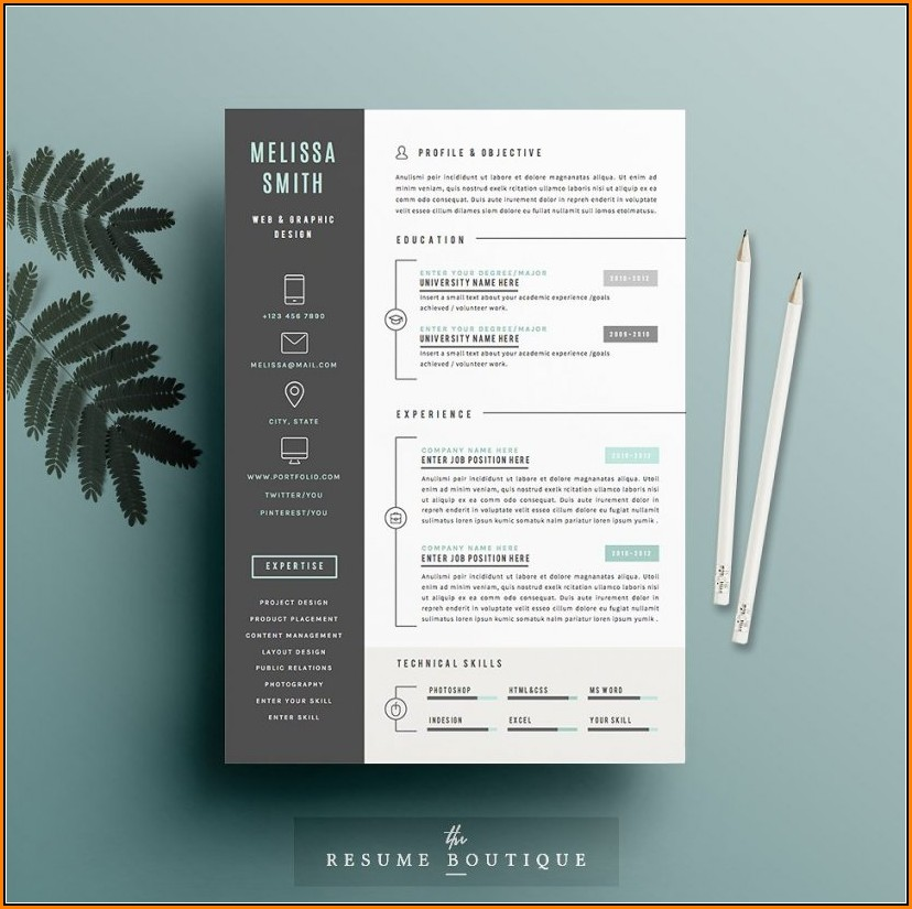 Eye Catching Resume Templates Microsoft Word Free