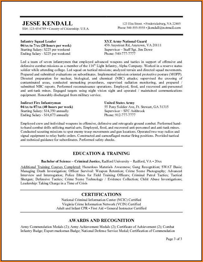 Federal Resume Builder
