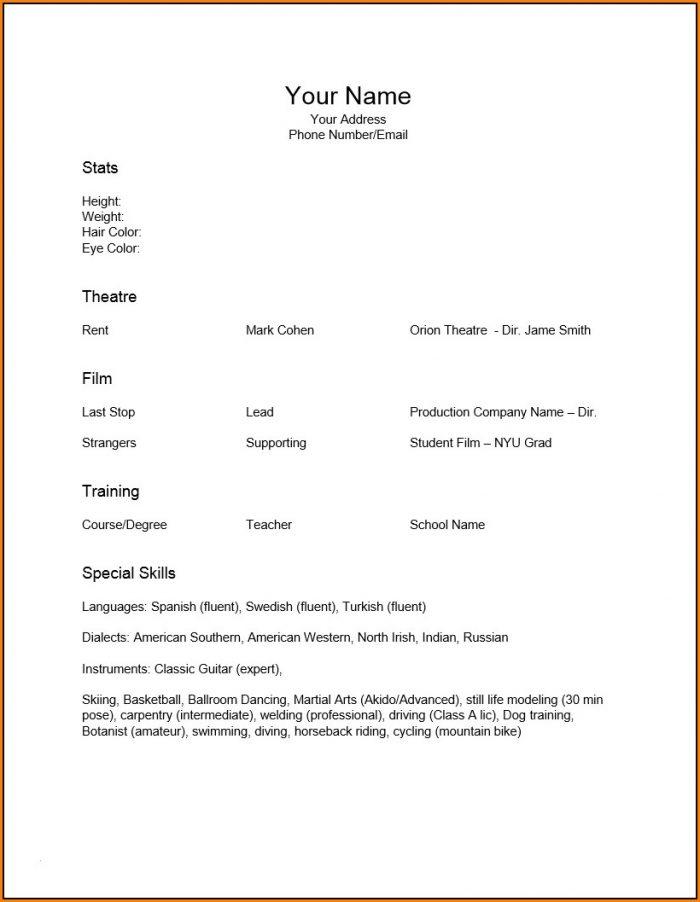 minimalist resume template word free resume resume examples