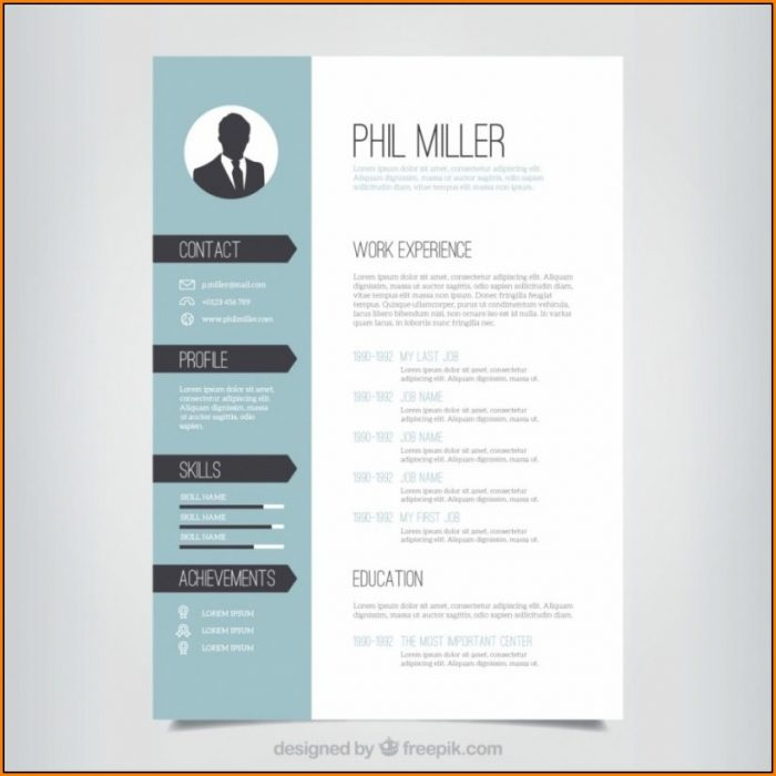 Free Creative Resume Templates Doc