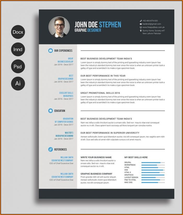 Free Cv Resume Template Word