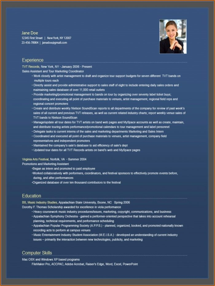 Free Downloadable Resume Builder