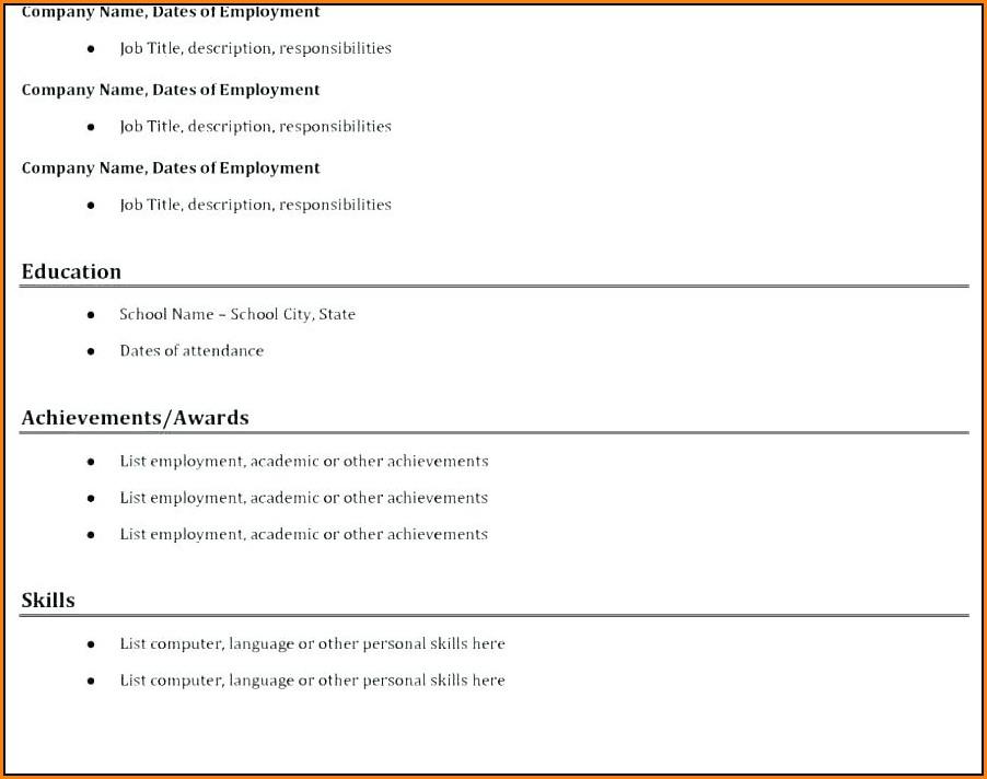 Free Downloadable Resume Builder Software