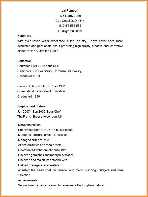 Free Editable Resume Template Microsoft Word