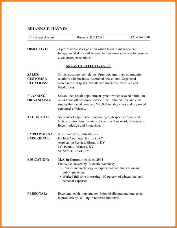 Free Functional Resume Template Word