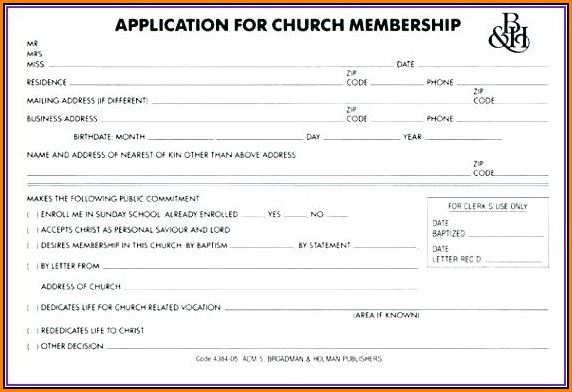 Free Membership Application Form Template Word