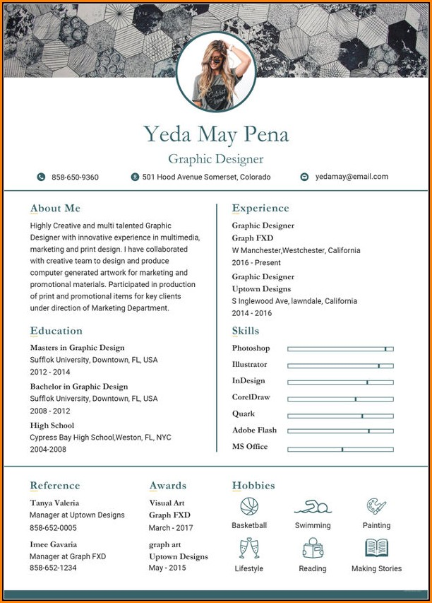 Free Modern Resume Templates Pdf