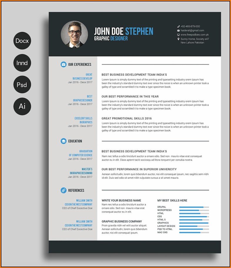 Free Printable Resume Templates 2018