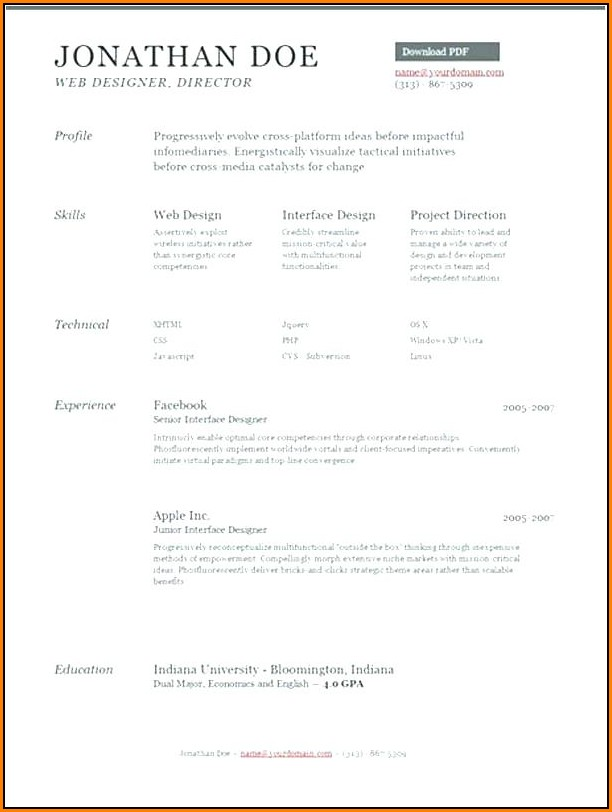 Free Resume Builder Online Application