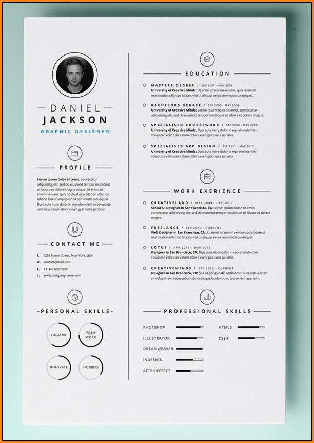 Free Resume Templates For Pages Mac