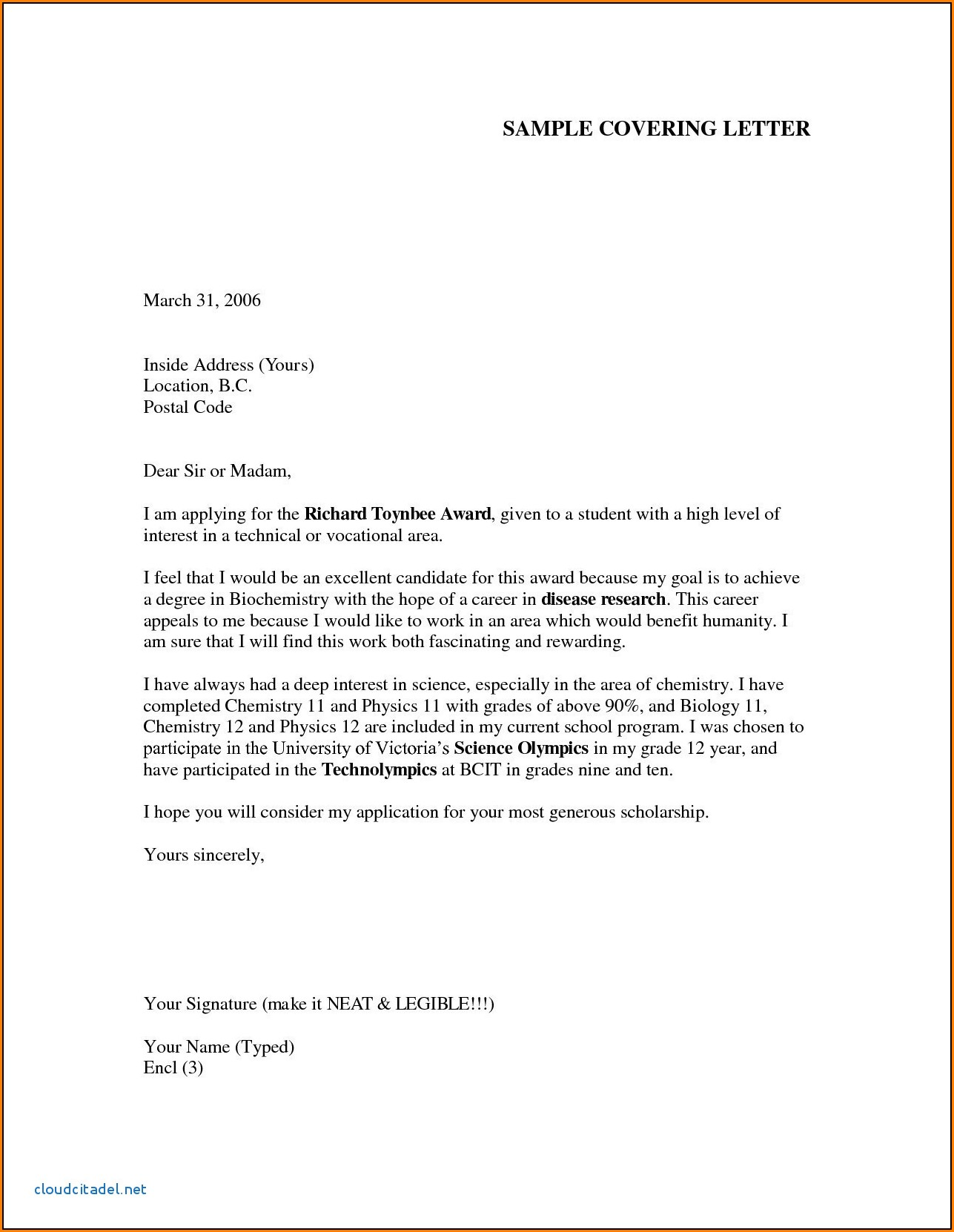 Free Sample Cover Letter For Job Application Pdf