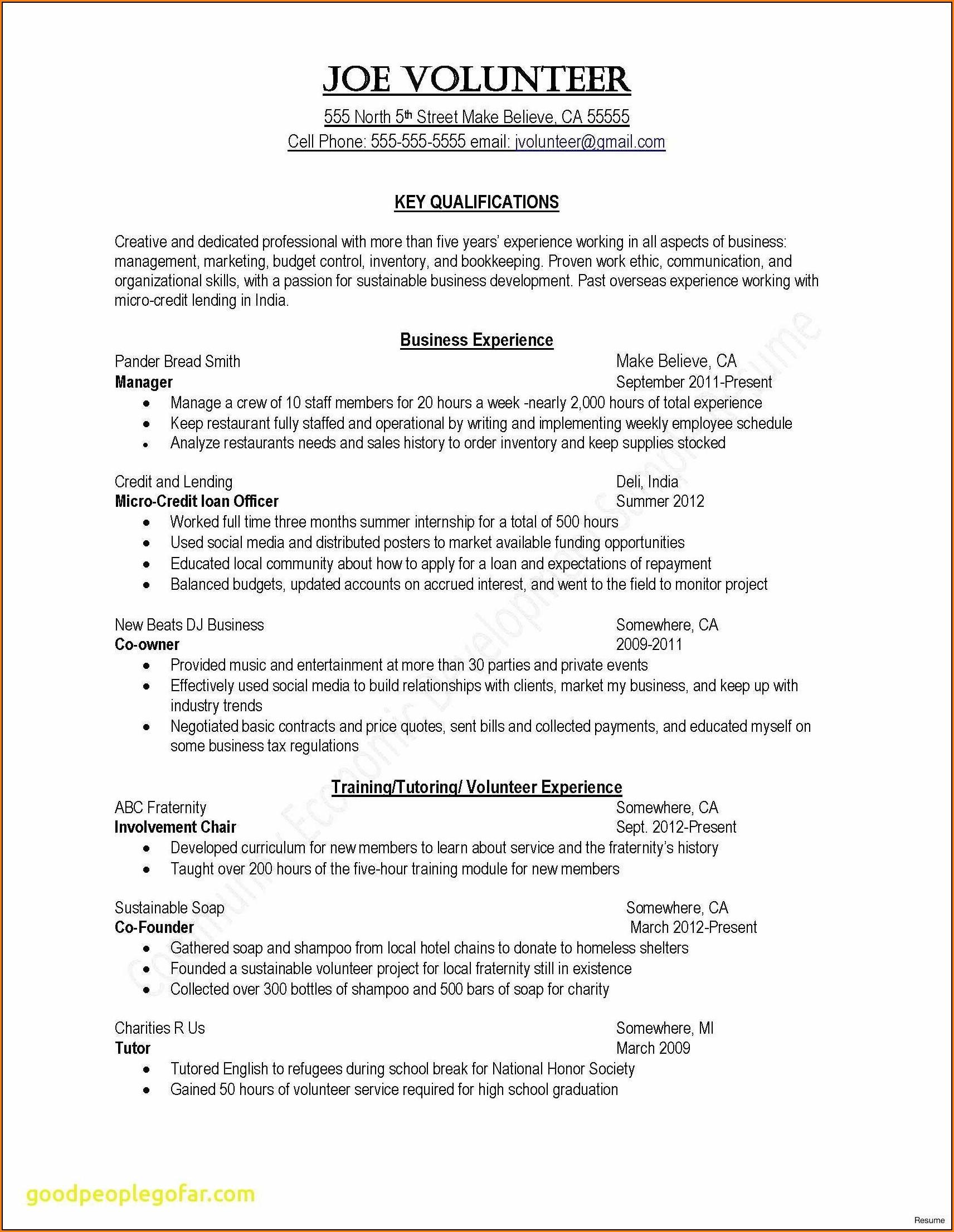 Free Samples Of Resumes