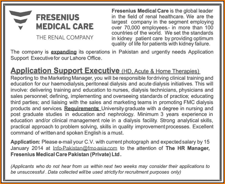 Fresenius Job Application