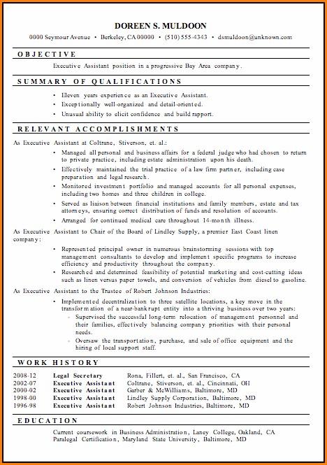 Functional Executive Resume