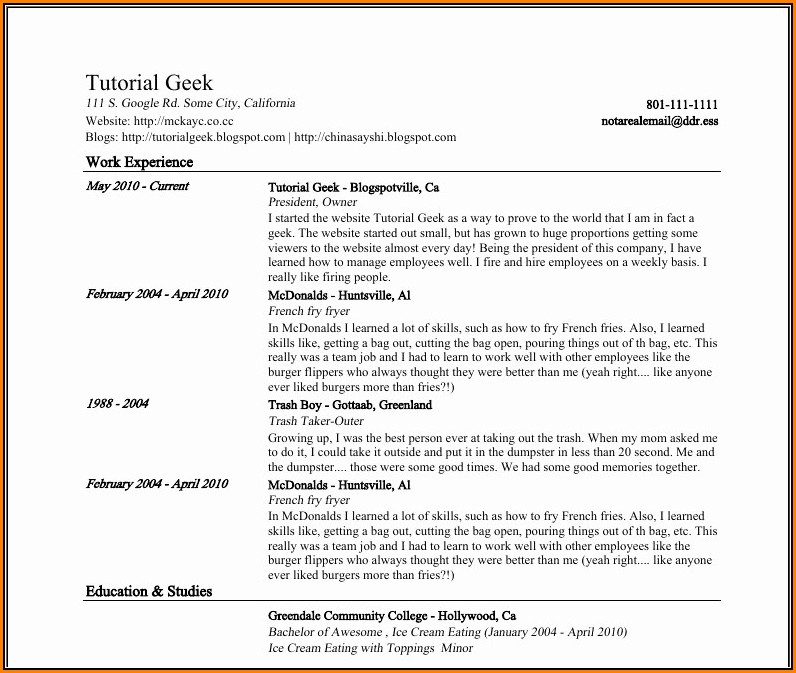 Google Resume Builder Templates
