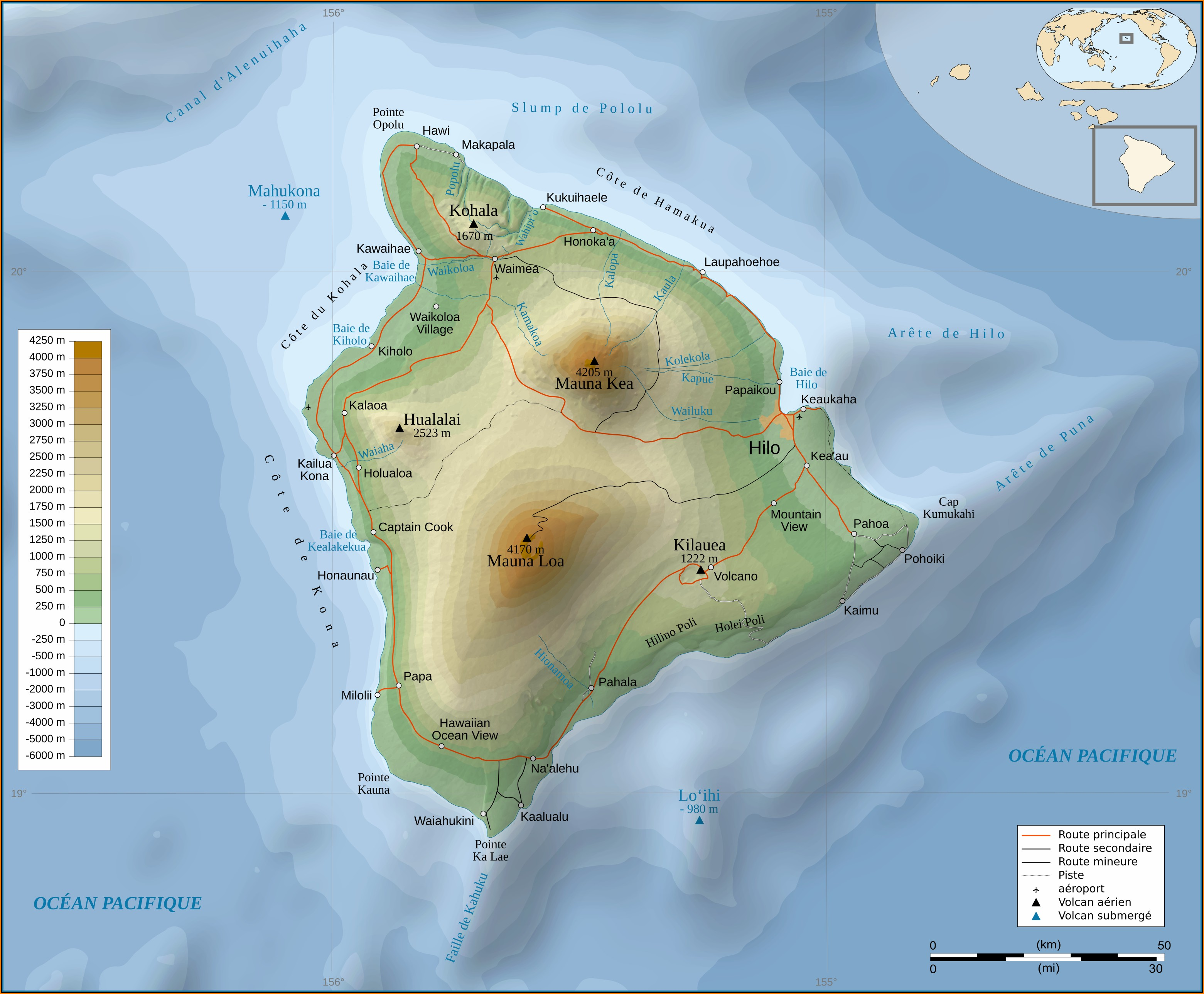 Hawaii Big Island Topographic Map