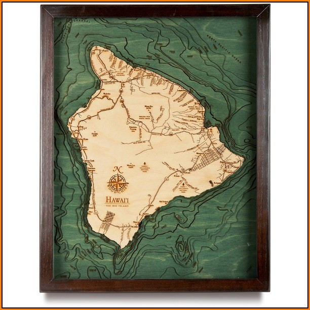 Hawaii Topographic Map 3d