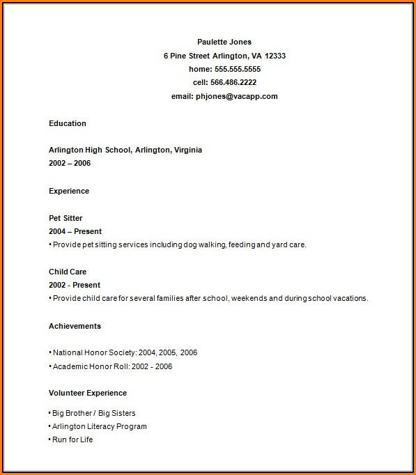 High School Resume Builder