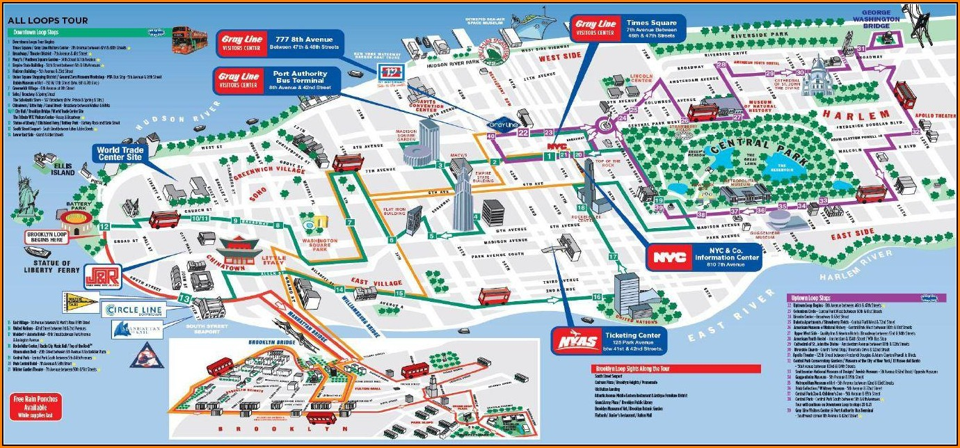 Hop On Hop Off Bus Nyc Map