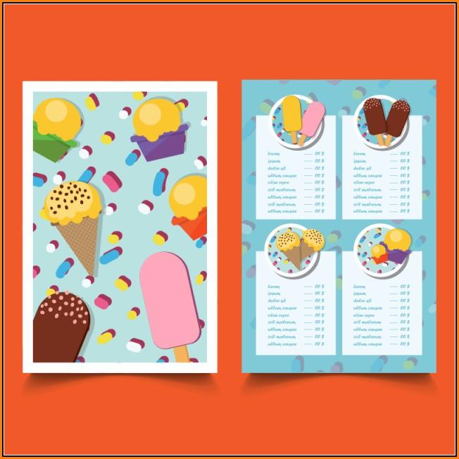 Ice Cream Menu Template Free Download