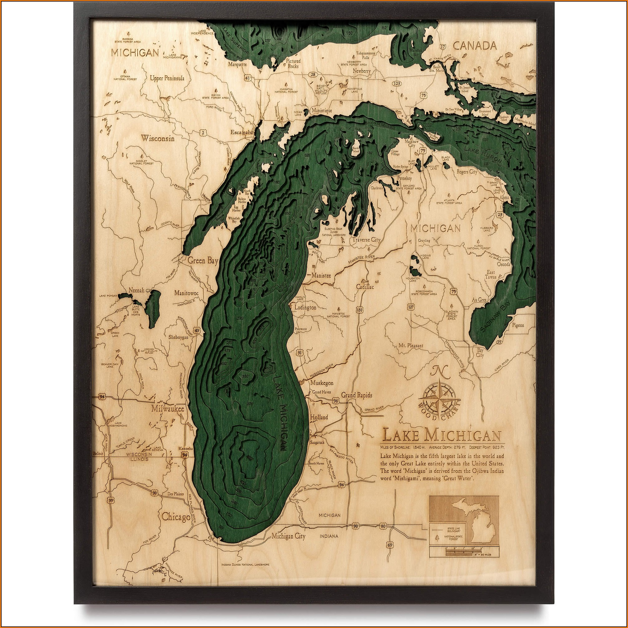 Lake Michigan Topographic Map