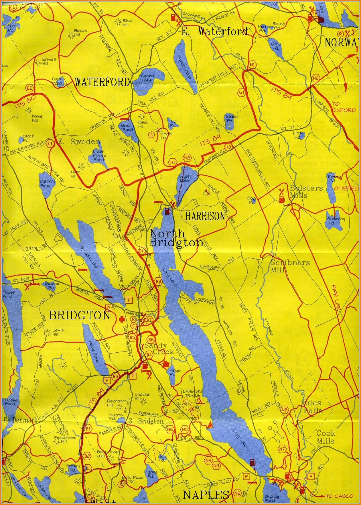 Maine Snowmobile Trail Maps