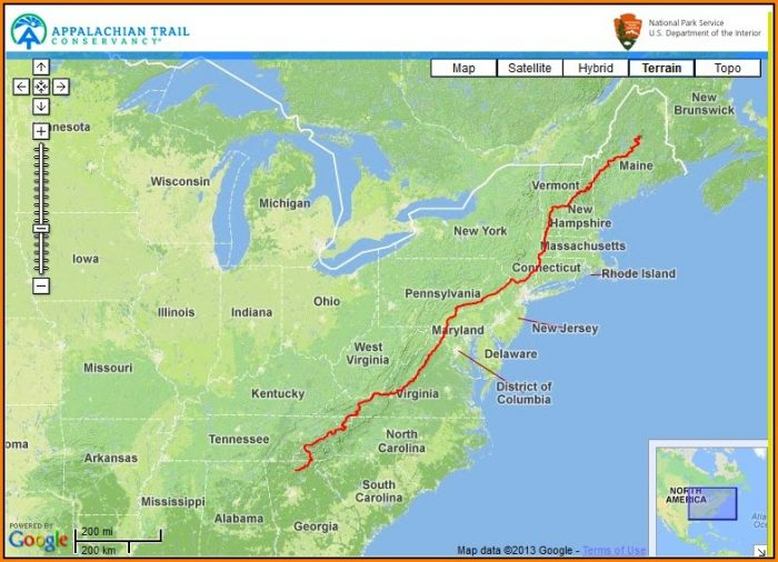 Map Of Appalachian Trail