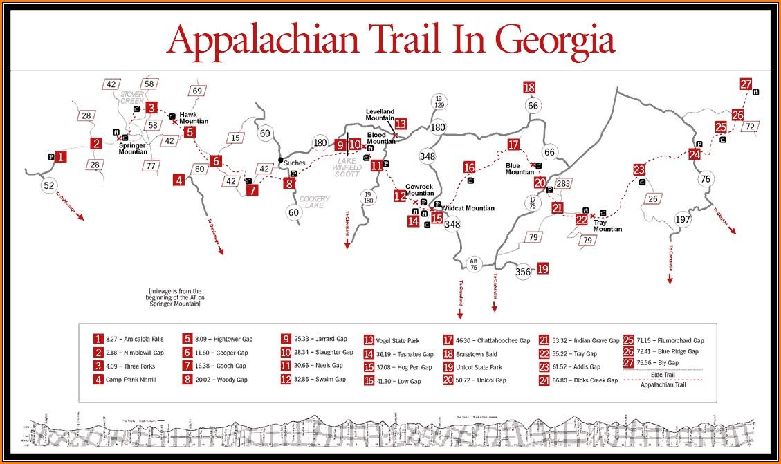 Map Of Appalachian Trail In Georgia