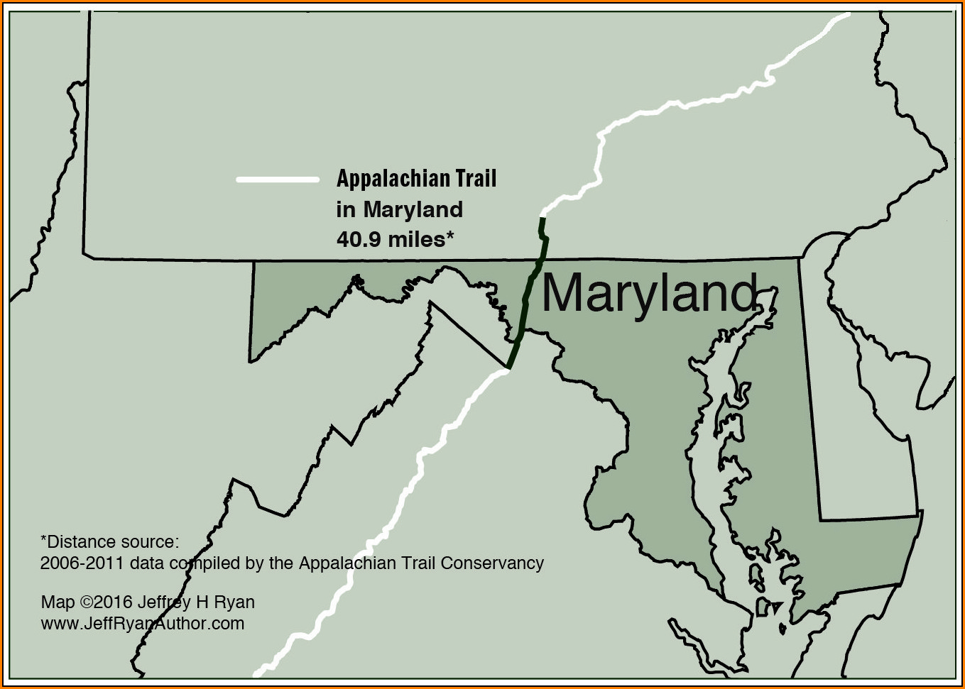 Map Of Appalachian Trail In Maryland