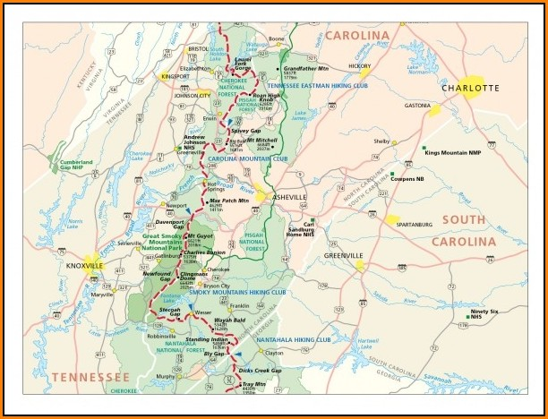 Map Of Appalachian Trail In North Carolina