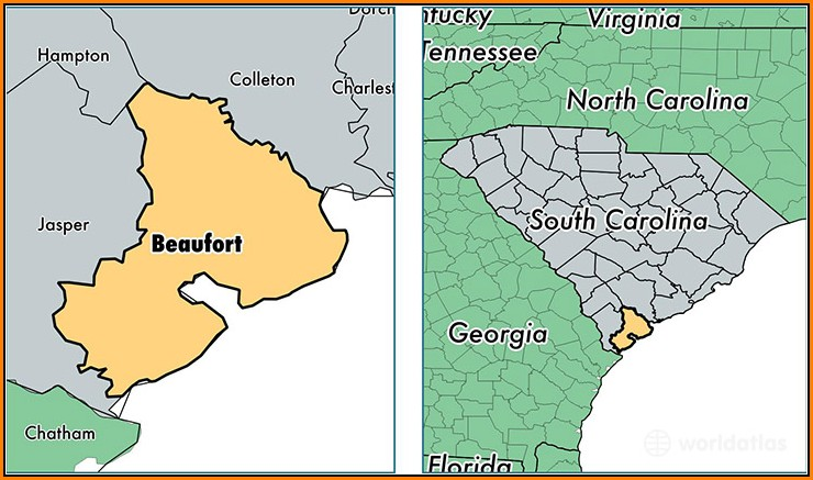Map Of Beaufort Sc