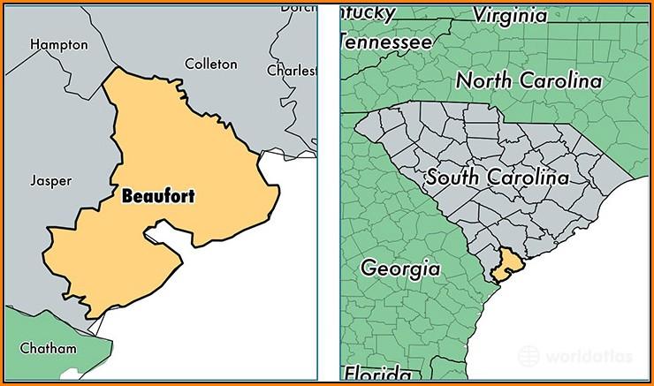 Map Of Beaufort Sc