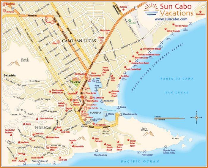 Map Of Cabo San Lucas Resorts