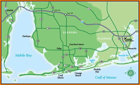 Map Of Gulf Shores Alabama