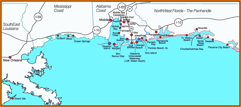 Map Of Gulf Shores Florida