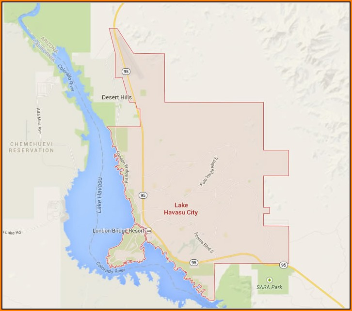 Map Of Lake Havasu City Arizona