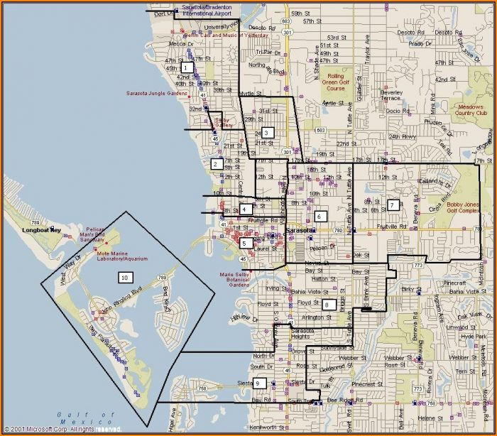 Map Of Sarasota Florida Neighborhoods