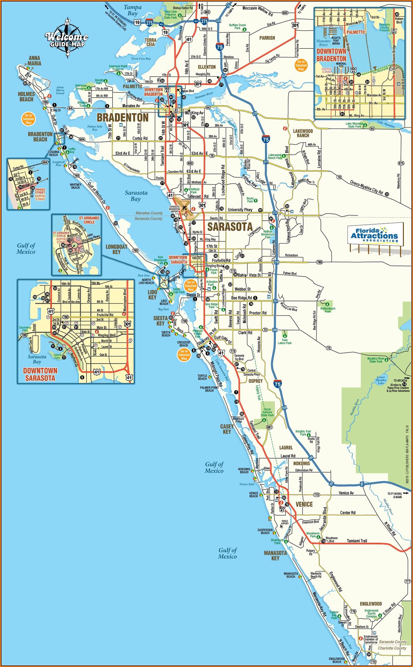 Map Of Sarasota Florida