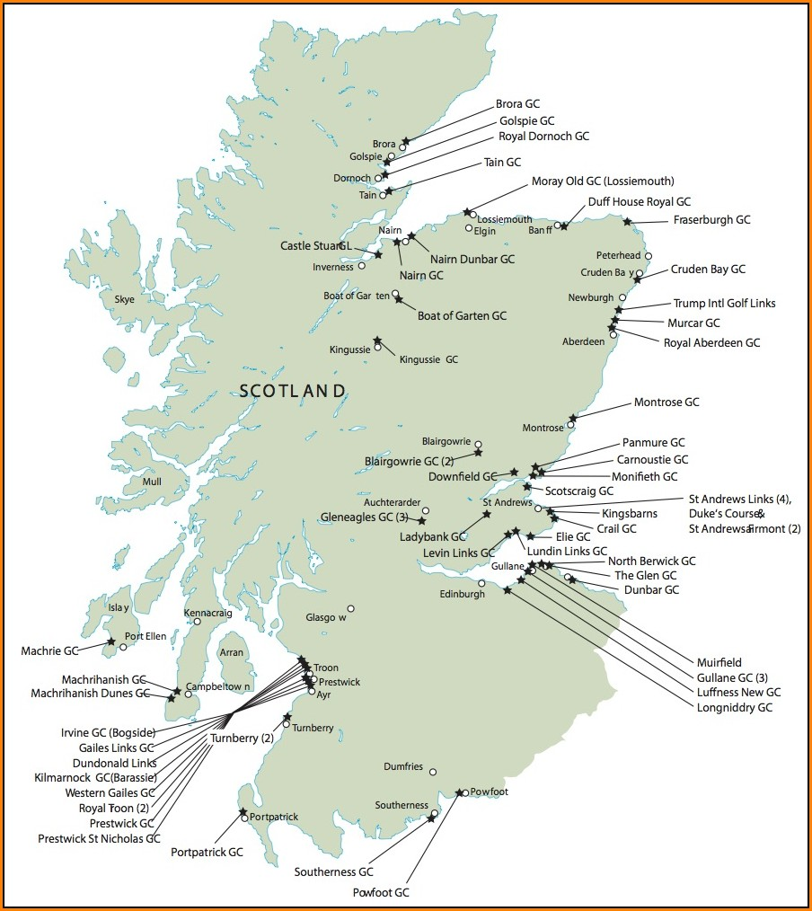 Map Of Southwest Ireland Golf Courses