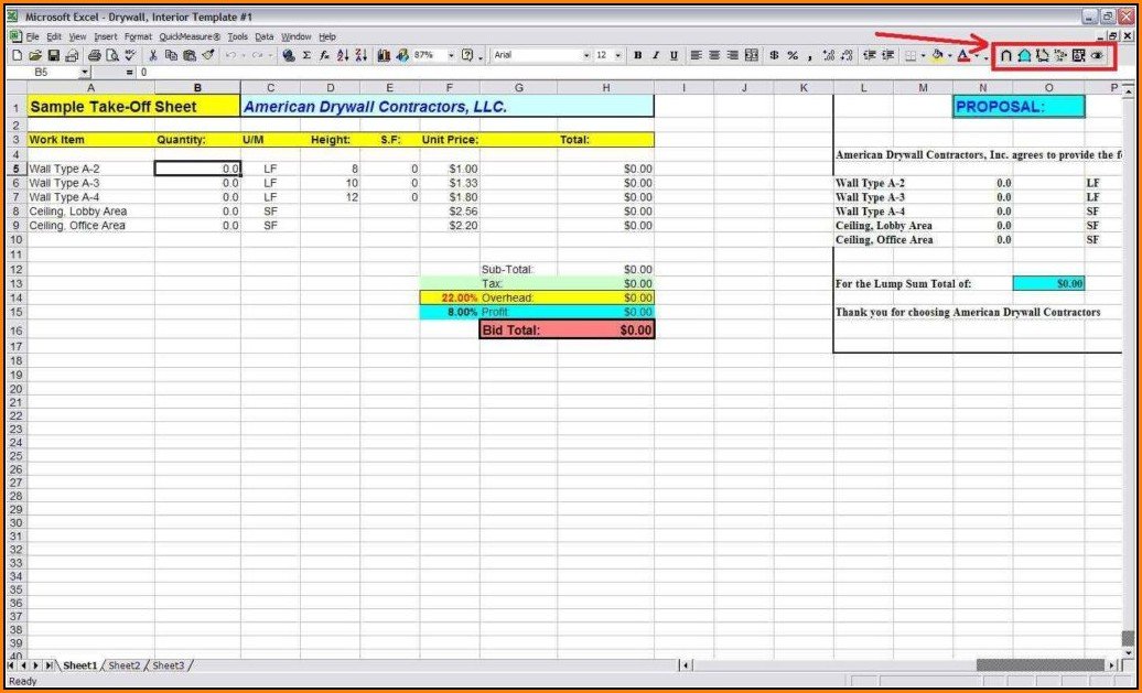 material-takeoff-template-excel Rebate Letter Template on