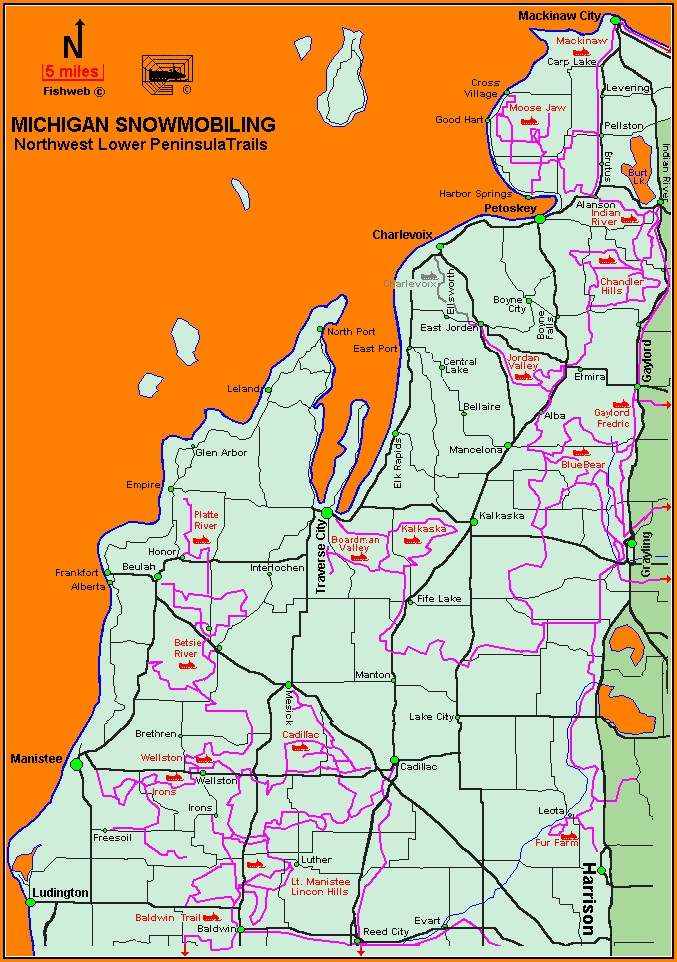 Michigan Snowmobile Trail Maps