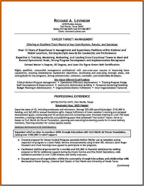 Military Resume Builder