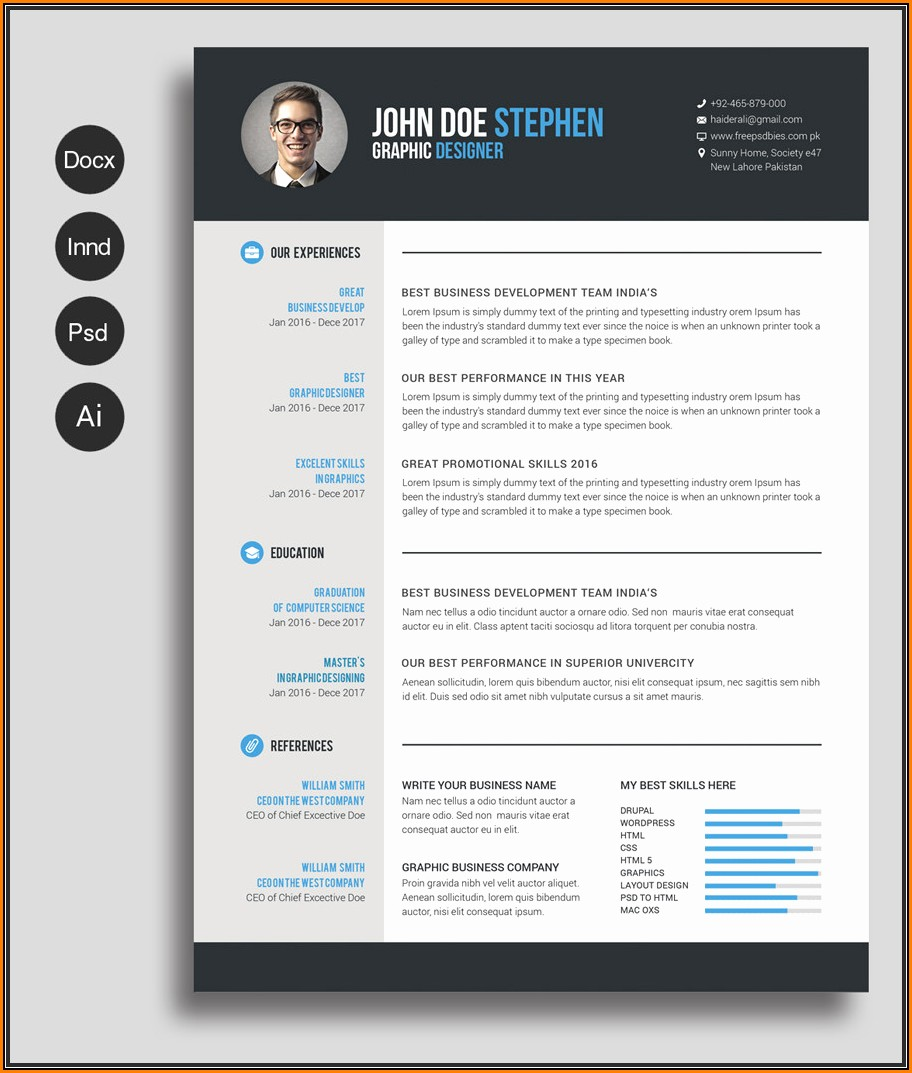Modern Resume Template Free Download Docx
