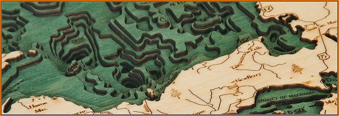 Nautical Wood Maps