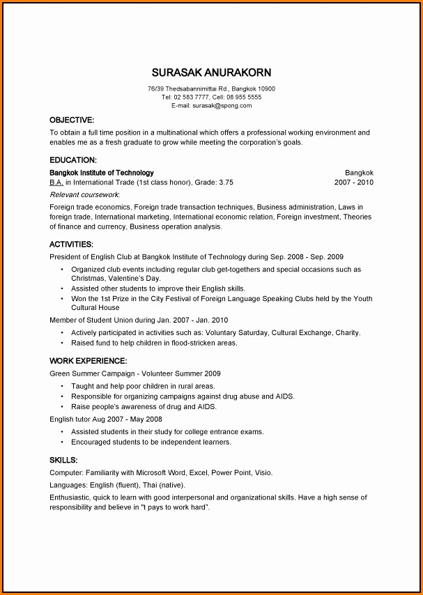 Online Resume Builder Free With Photo