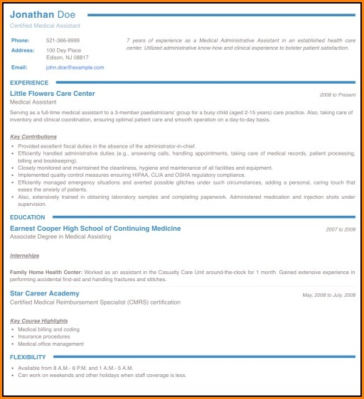 Online Resume Maker For Freshers