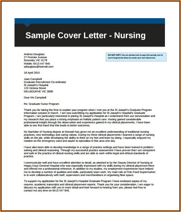 Professional Free Cover Letter Sample